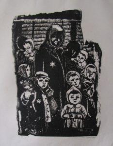 Ostrava woodcut
