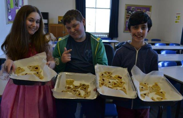 Cheder pupils have made some delicious Hamentashen